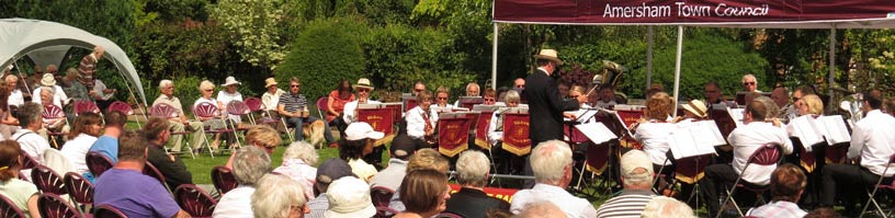 band concerts held throughout the summer in Amersham