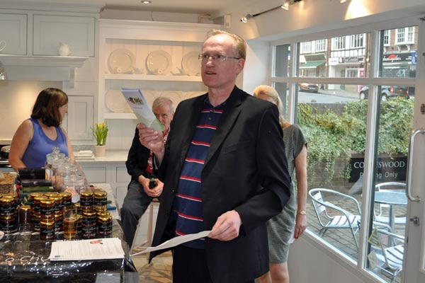 Chiltern Chamber vice-Chair Andy Garnett introducing Food and Drink evening April 2015