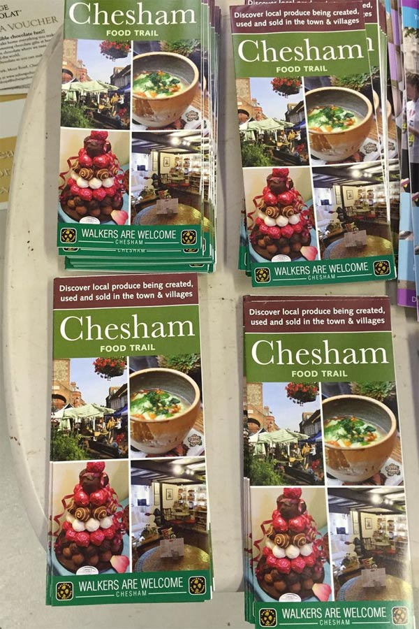 Chesham Food Trail leaflets at Chiltern Food Heroes event April 2016