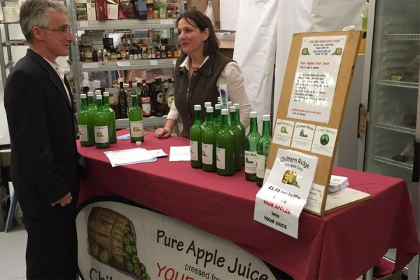 Chiltern Ridge Juices at Chiltern Food Heroes event April 2016