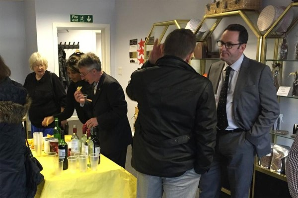 Daws Hill Vineyard at Chiltern Food Heroes event April 2016