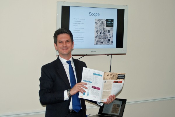 Steve Baker MP at breakfast with Chiltern Chamber