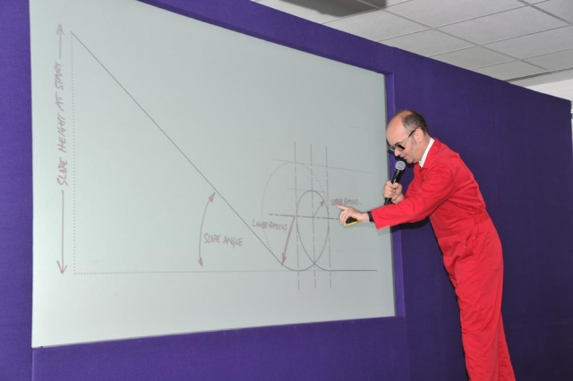 prof brendan walker and physics of loop the loop bucks skills show 2016
