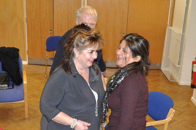 Lynne Gibson and Vee Bharakda at Chiltern Chamber laughter yoga event