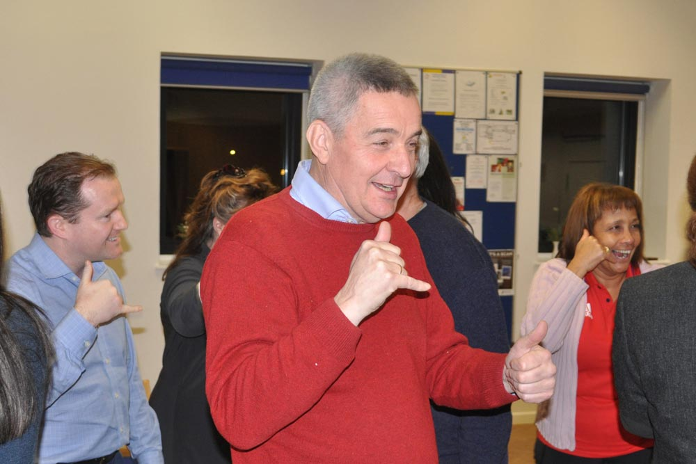 Tim Frost at Chiltern Chamber laughter yoga networking