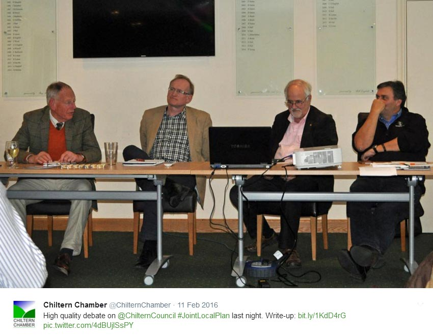 Chiltern Chamber debate on 'Where will our Children live and work?', February 2016