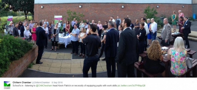 Kevin Patrick of Chiltern Hills Academy addresses Chiltern Chamber 2016 Summer Soiree