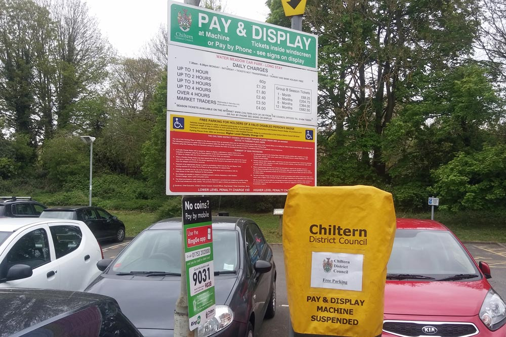 Free parking at Chesham Water Meadow car park St Georges Day 2017