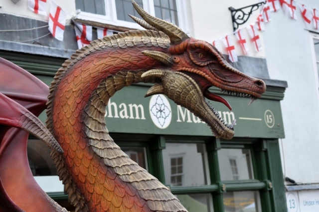 Dragon sourced by Chiltern Chamber of Commerce for Chesham St Georges Day 2017