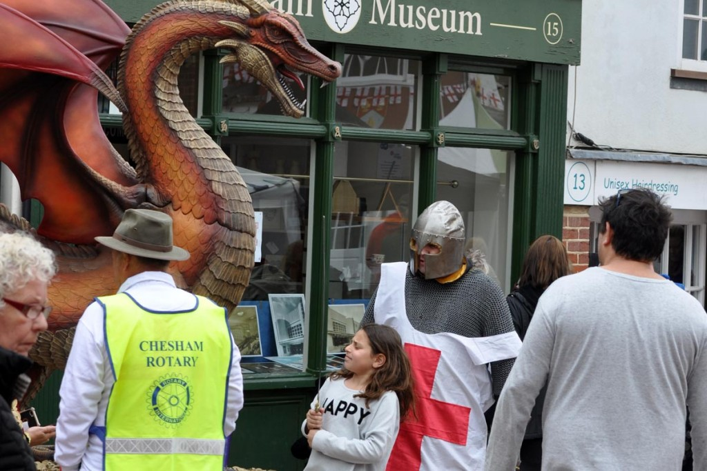 young lady with sword St George's Day Chesham 2017
