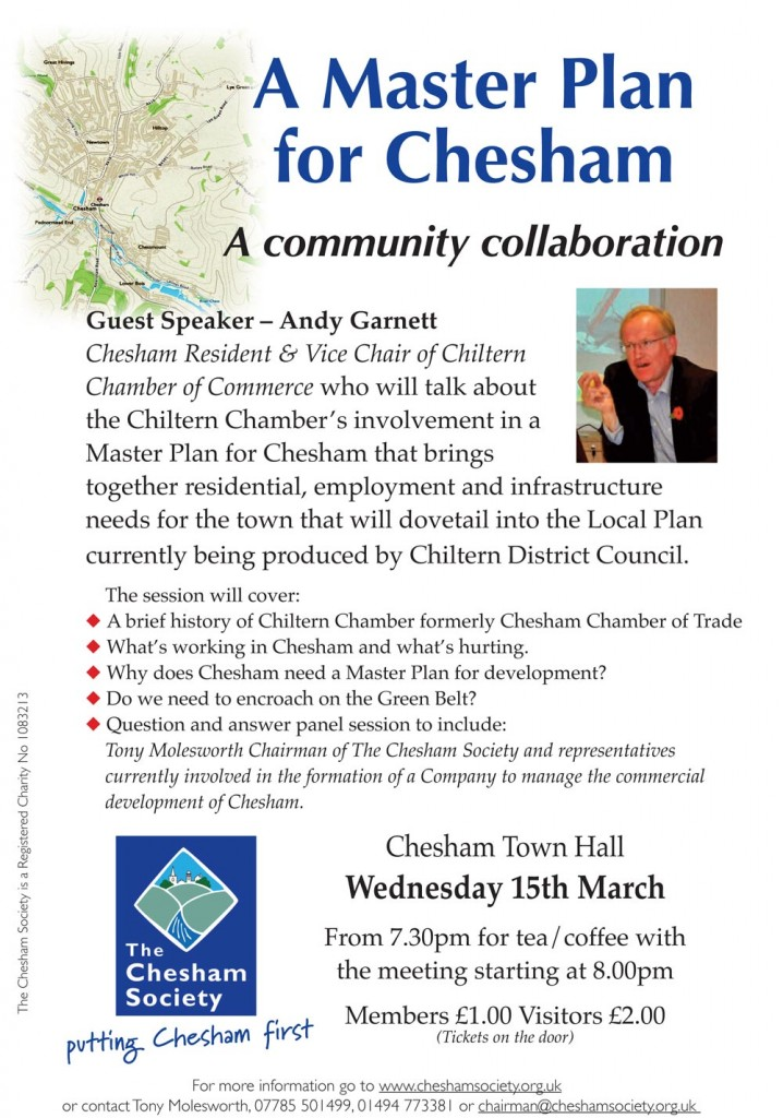 Poster for Chesham Society Meeting March 2017