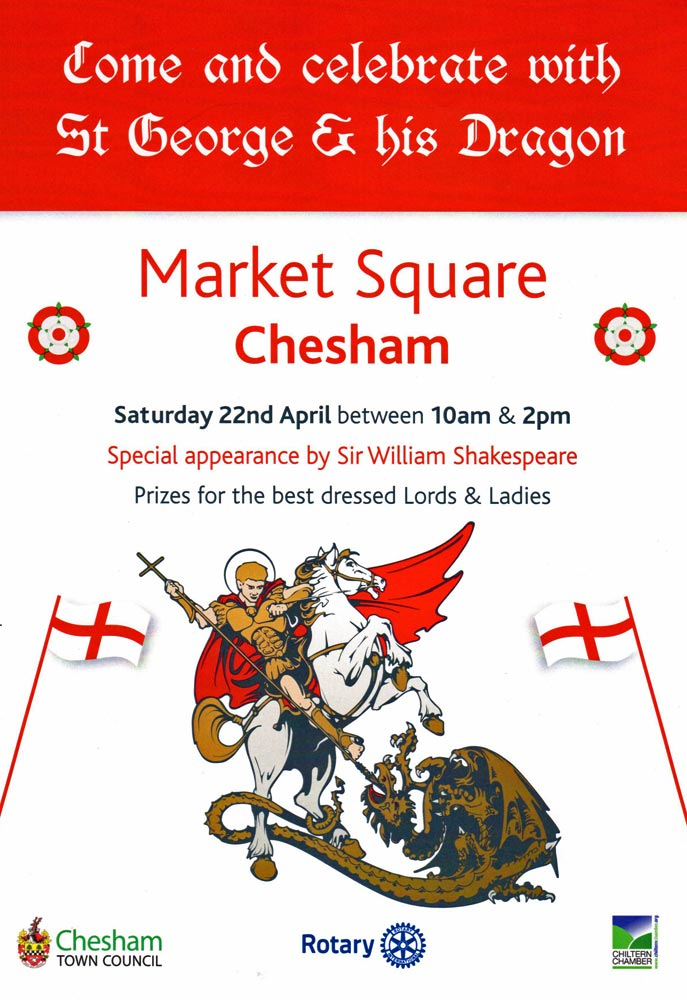 poster for st georges day chesham 2017